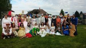 skupinka kostýmů