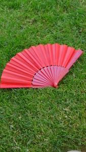 červený vějíř