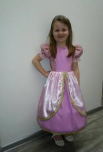 Růžové šaty pro princeznu