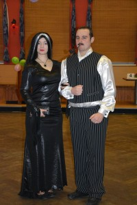 Morticia Addams a Goméz Addams
